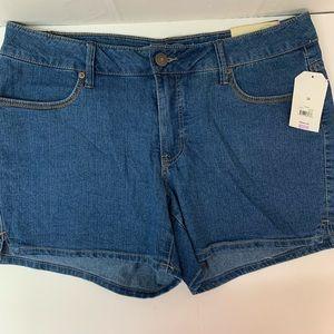 Faded Glory stretch denim jean shorts blue size 14